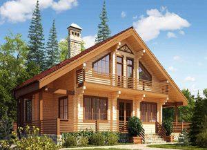 Будинки з дерев'яних брусів від компанії Tercom